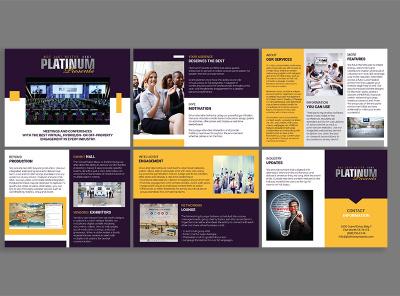 Business Profile Design booklet design business profile design media kit