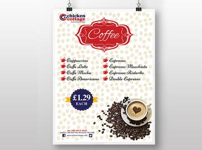 Poster Design food and drink takeaway poster design