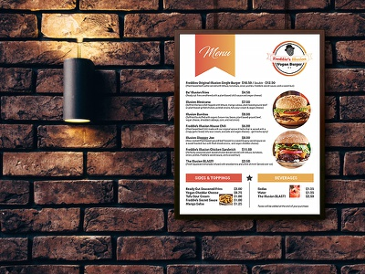 Menu Design fastfood burger menu menu menu design