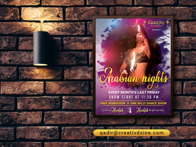 Poster Design for Belly Dance Show event flyer flyer design poster design party poster dance party belly dance poster