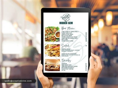 Digital Menu for iPad