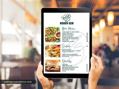 Digital Menu for iPad menu design menu ipad menu digital menu
