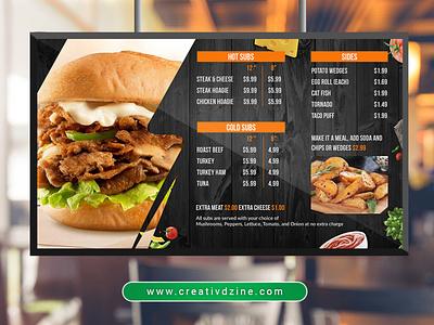 Digital Menu Screen menu digital menu menu screen menu design