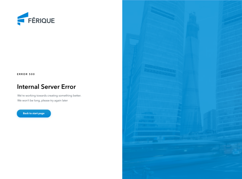 Internal servor error web app uiux ui