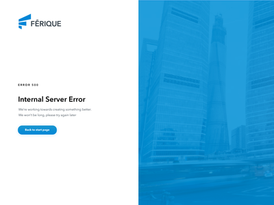 Internal servor error web app uiux ui