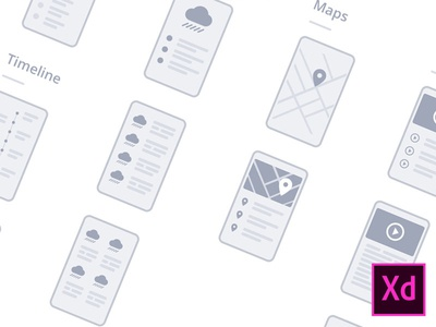 Adobe XD mobile wireflows [FREEBIE]