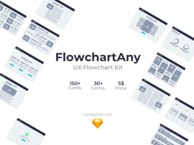 FlowchartAny Desktop ver. - UX Userflow Kit for Sketch