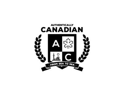 Authentically Canadian Logo design logocollection illustration logochallenge logo art dailylogochallange dailylogo logocore logo a day logo