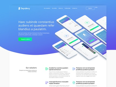 Sepalevy - Landing page landing page design ui uidesign clean app mobile web