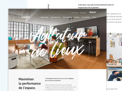 L'espace - Homepage redesign web office furniture uiux uidesign minimal homepage design clean