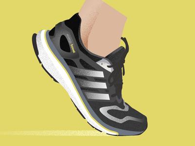 5th Anniversary Boost vector illustration run footwear shoe illustrator running boost ultraboost energy boost sports adidas