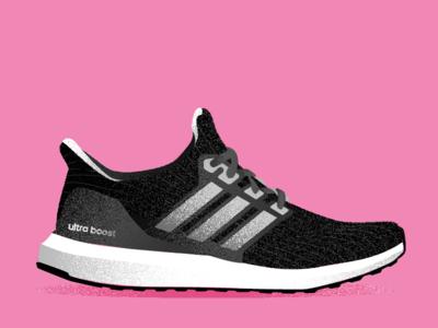 5th Anniversary Boost adidas sports vector art ultraboost boost running illustrator shoe footwear run illustration vector