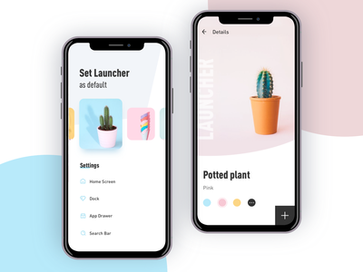 Launcher light launcher app ux flat design ui