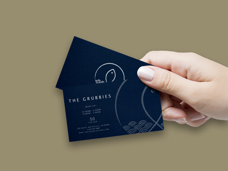 Business card for a donburi pop-up. logo branding