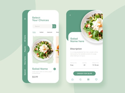 Food Delivery - Mobile App UI online food order order mobile ui mobile clean design clean delivery app uidesign ui design ui mobile app design mobile app food delivery service food delivery app food app food and drink food booking app app design app