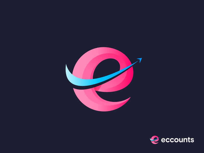 eccounts logo design trendy logo design 2020 logo design best logo design letter logo design logo creative logo corporate branding brand identity modern logo logotype e letter e e logo design e logo finance logo app logo logomark accounts accounting company logo