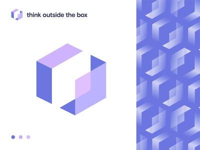 think outside the box logo concept isometric logo best logo design best logo designer logo ideas conceptual logo 3d isometric box logo coporate colorful outside the box think brand identity brand modern app logo creative logo logodesigner logodesign logo
