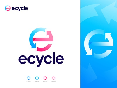 ecycle logo design devignedge app logo overlay creative logo best logo designer company logo natural recycle modern e icon letter e logo typography logomark logotype e logo brand identity branding brand logo design logo