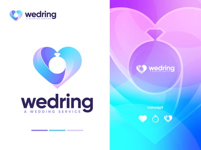 wedring logo design top logo design matrimony colorful logo logo design trend 2021 best logo design 2021 ring love wedding logo logo ideas conceptual logo modern logo top logo design 2021 best logo designer app logo creative logo devignedge branding brand logo design logo