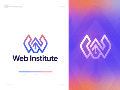 web institute logo modern logo w and pen logo best logo designer w mark conceptual logo logo ideas logo design trend 2021 letter w logo best logo design w logo design vibrant logo coloful logo logotype creative logo devignedge brand branding logo design logo
