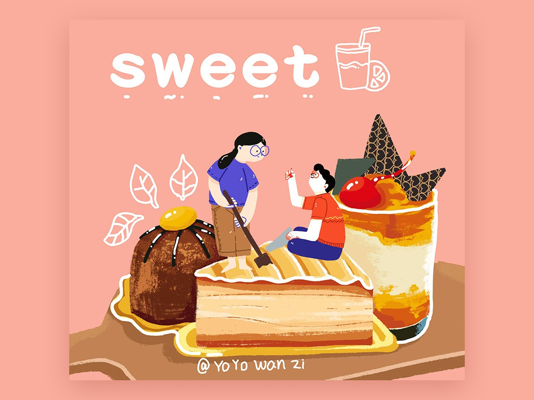 sweet design 视觉 illustration