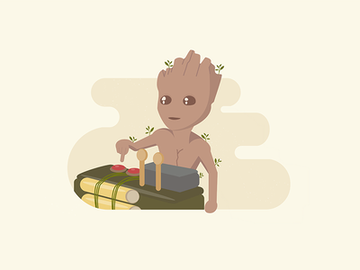 I am Groot marvel marvel comics movie illustration guardians of the galaxy baby groot