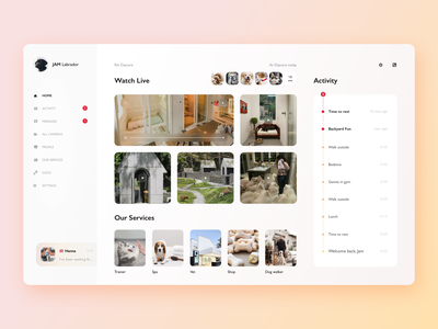 🐕 Pet Daycare design minimal creative app pets sidebar dashboad inspiration ui dogs ios clean