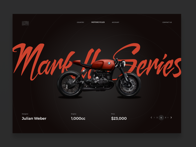 Mark ll Series black dark motorcycle café racers bmw bike minimal design web clean