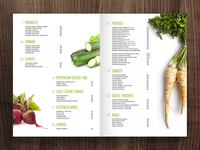 Veggie Menu / Brochure