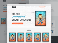 Cricket Caricatures - Homepage