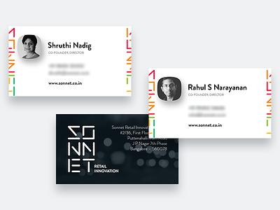 Stationary Design stationary design identity branding sonnet visiting card business cards