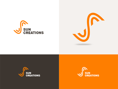 Sun Creations - Identity Design firm orange branding logo design identity sun