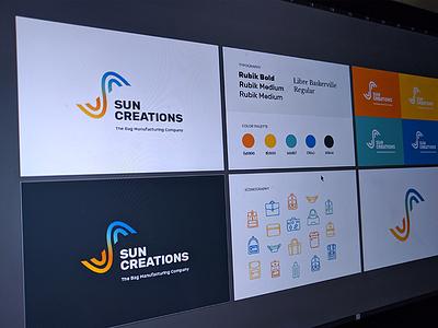 Sun Creations Brand Document typography icons creations sun logo identity document brand