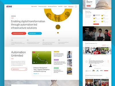 Coporate Website Redesign - Strategy & Design infrastructure corporate website landing page homepage design servicesweb redesignit homepagewebsite corporate