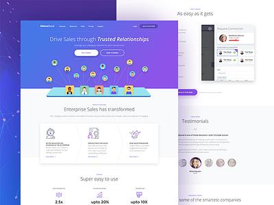 Athena Homepage lead generation landing page illustration social trust enterprise sales homepage