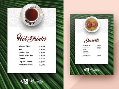 Tent Menu tent menu virundhu leaf coffee dessert juice drinks hotel restaurant menu
