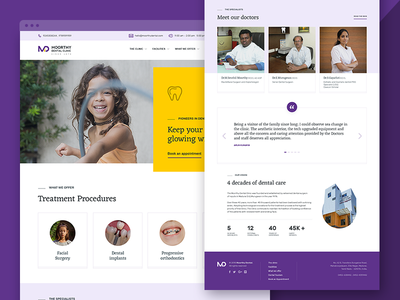 Dental Clinic Website landing page responsive madurai website healthcare clinic dental