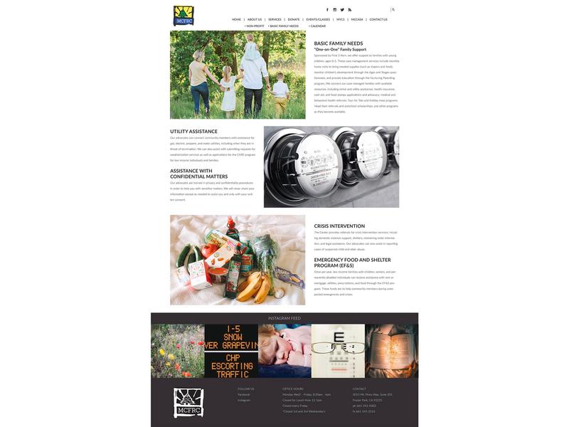 MCFRC business cards brochure social print marketing social media print collateral website branding