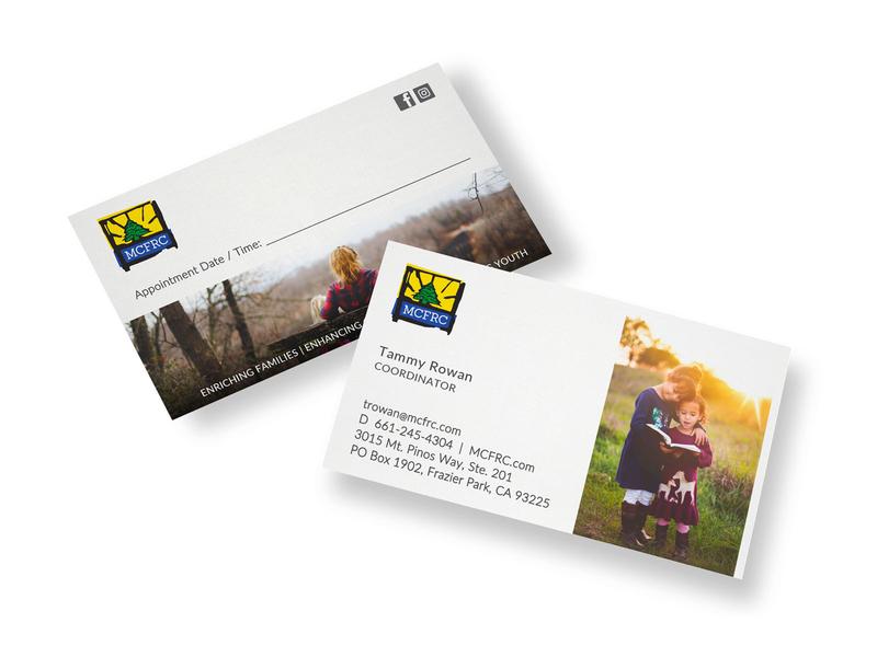 MCFRC brochure social design business cards marketing social media print collateral website branding