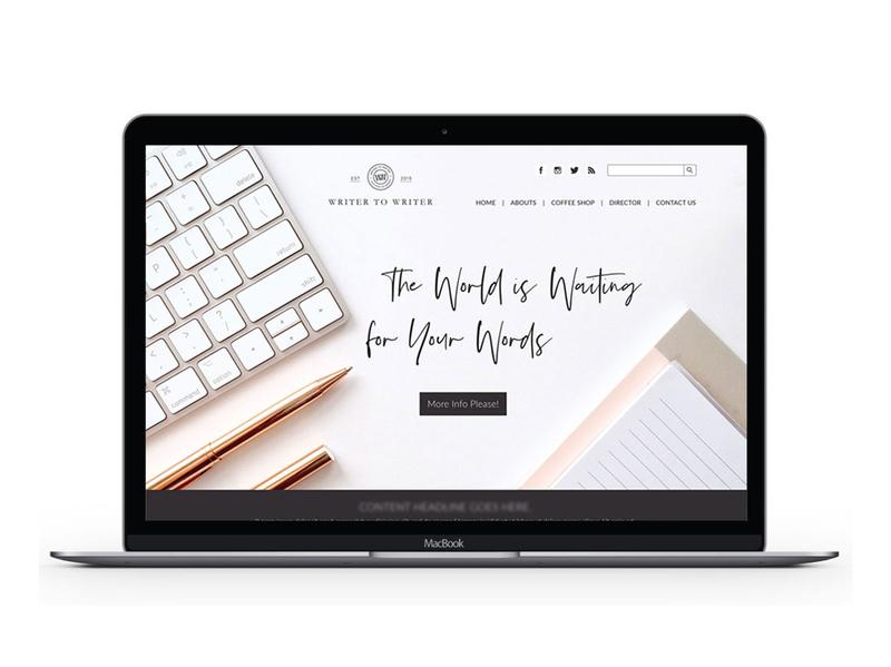 Writer to Writer print print collateral typography vector illustration mark design website branding logo