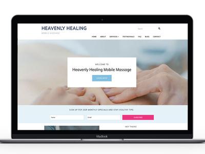 Heavenly Healing homepage design homepage design website