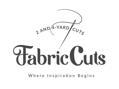 FabricCuts mark typography social marketing social media website branding logo