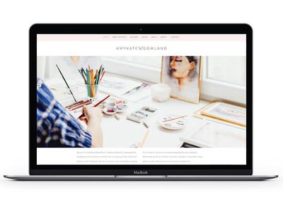 AmyKate Gowland illustration mark brand typography brochure business cards marketing social media print collateral website branding logo