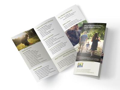 MCFRC rebrand rebranding brochure design brochure