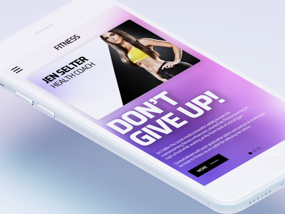 Fitness Mobile Design iOS