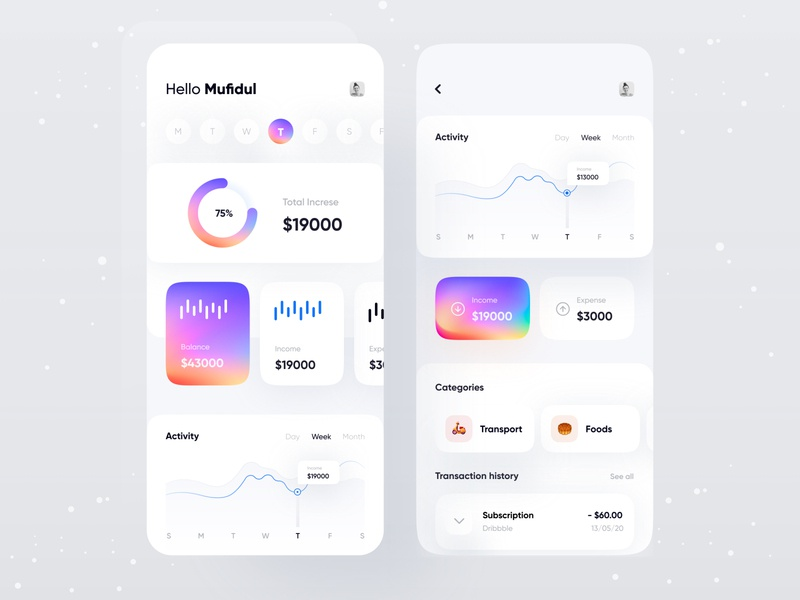 Finance app 1.0 uxdesign uidesign typography transaction tracker product design personal finance financeapp finance dashboad business budget bank app application analytics app app design app concept analytics dashboard analytics chart analytics