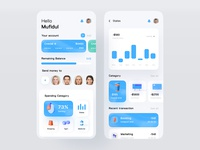 Finance app 3d uxdesign uidesign typography transaction product design ios14 finances financeapp finance dashboad business budget application app design app concept analytics dashboard analytics chart analytics app analytics