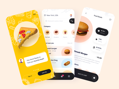 Food delivery App burger dribbble best shot mobile app design foodie online food app food product trendy design restaurant app food and drink tracking delivery service minimal mobile app ofspace agency design uxdesign uidesign food delivery application delivery app food delivery app