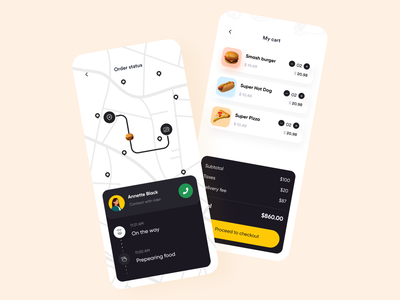 Food delivery app trendy design tracking restaurant app product design online food app ofspace agency design mobile app minimal foodie food delivery application food delivery app food app food and drink dribbble best shot delivery service design delivery app appdesigner burger appdesign