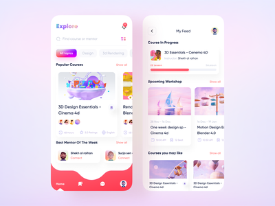 Educational app dribbble best shot userinterface user experience (ux) study students school reading online school mobile app minimal learning platform learning app event app e-learning education app education edtech design system courses class